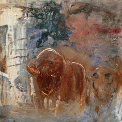 Bulle & Bär | 2014 | Acryl, Sand | 50 x 60cm