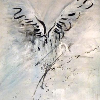 Flügel III | 2011 | Mischtechnik | 75 x 57 cm