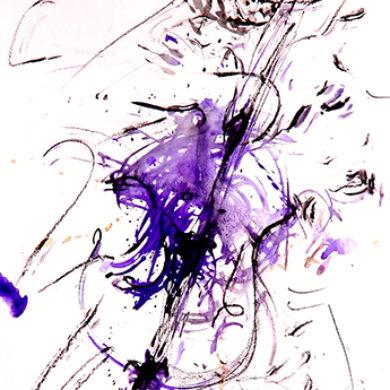 Gypsy Sounds II | 2015 | Tusche, Reisskohle | 67 x 50 cm
