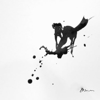 Hund II | 2013 | Tusche | 25 x 25 cm