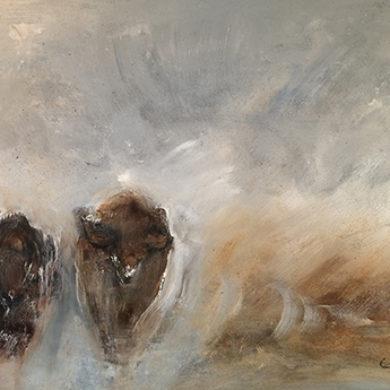 Running Wild | 2014| Acryl, Sand | 70 x 100 cm