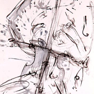 Schlussakkord | 2015 | Tusche, Reisskohle | 67 x 50 cm
