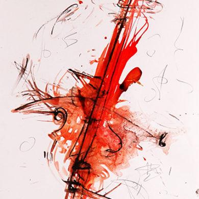 Verfuehrung | 2015 | Tusche, Reisskohle | 67 x 50 cm