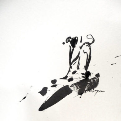Hund III | 2013 | Tusche | 25 x 25 cm