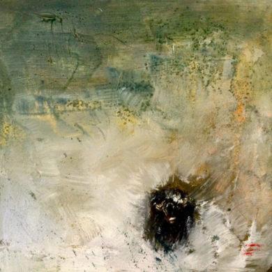 Wasserbüffel | 2014 | Acryl, Sand | 50 x 50 cm