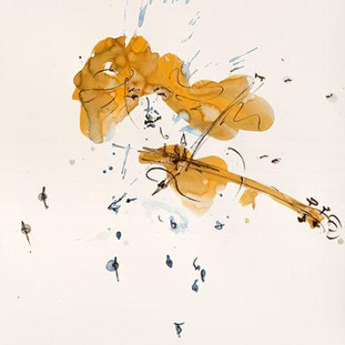 Zauberhafte Toene | 2017 | Tusche, Fusain | 70 x 50 cm