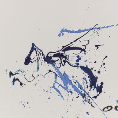 Pegasus im Sprung | Mixed Media | 29cm x 42 cm