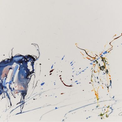 The Chase | Mixed Media | 50 x 70 cm