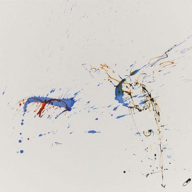 Vogel und Hirsch | Mixed Media | 50 x 70 cm
