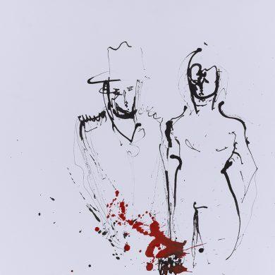 Von Mensch zu Mensch | Mixed Media | 50 x 70 cm