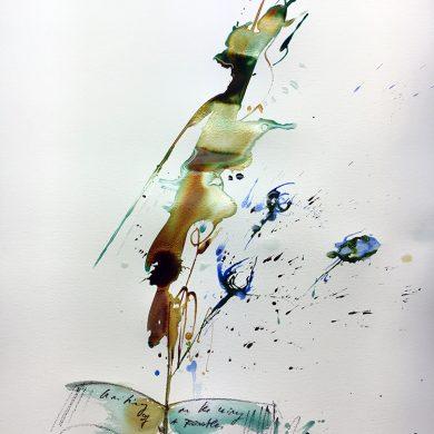 Buch und Feder | Mixed Media | 50 x 65 cm
